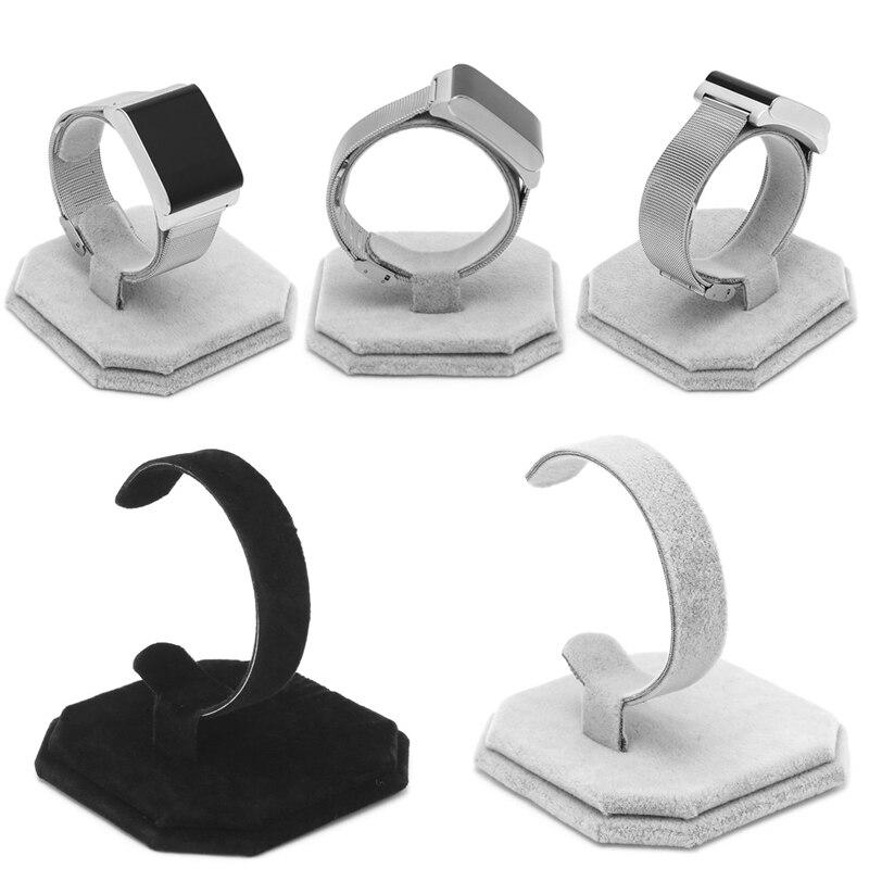 Velvet C Type Design Jewelry Bracelet Bangle Watch Display Rack Stand Holder New
