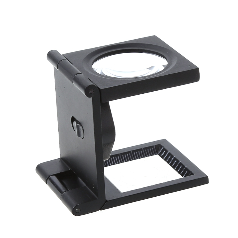 10X Times Foldable Magnifier Magnifying Glass Power LED Light Lens Magnifiers Desk Top Loupe