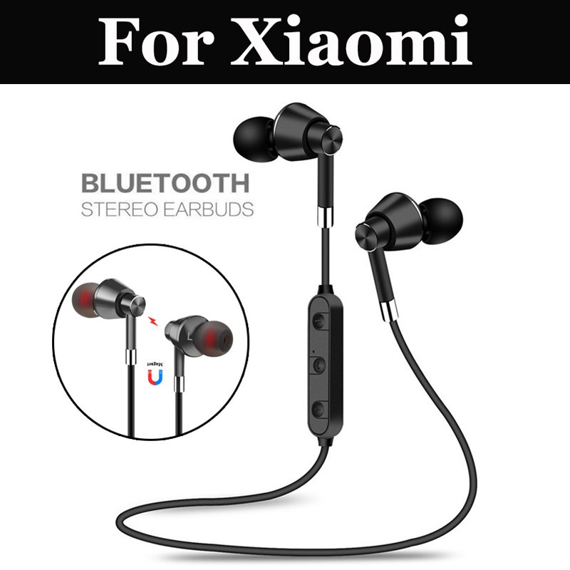 Sport Wireless Bluetooth Headset Stereo For Xiaomi Mi 4S 5 5c 5S 5S Plus 5X 6 6X 8 8 Lite Pro SE A1 A2 A2 Lite Mix 2 2S Note 2 3