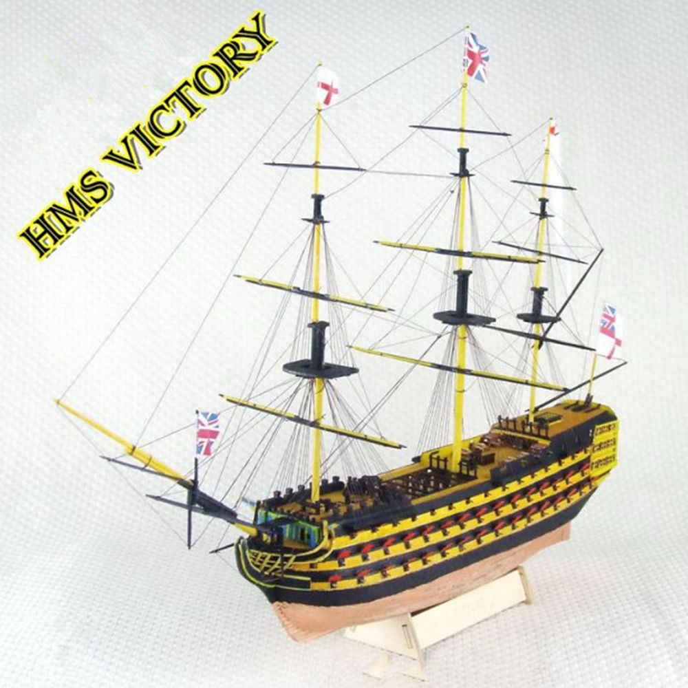 Wooden Scale Model Ship 1/200 Assembly Model kits Classical Wooden Sailing Boat Model VICTORY Scale Wooden Model Ship Kits