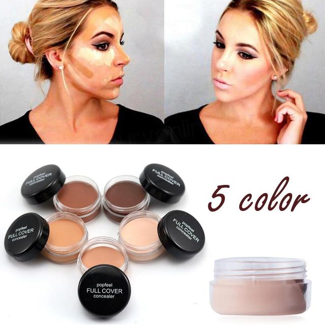 Poppim Hide imperfecciones cubierta completa corrector cremoso maquillaje cara labios ojos poros base cara corrector crema maquillaje al por mayor