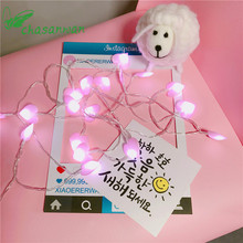 CHASANWAN 3 M 20 LED Love Battery Box Light String New Year Gifts Christmas Decoration for Home Tree D