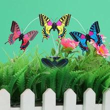 DIY Mainan Kupu-kupu Surya Kupu-kupu Baterai Didukung Ornamen Taman Halaman