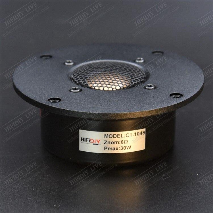 HIFIDIY LIVE Hifi 4 Inch  Tweeter Speaker Unit Beryllium Copper Film 6 OHM 30W  Aluminum Panel Treble Loudspeaker C1-104S