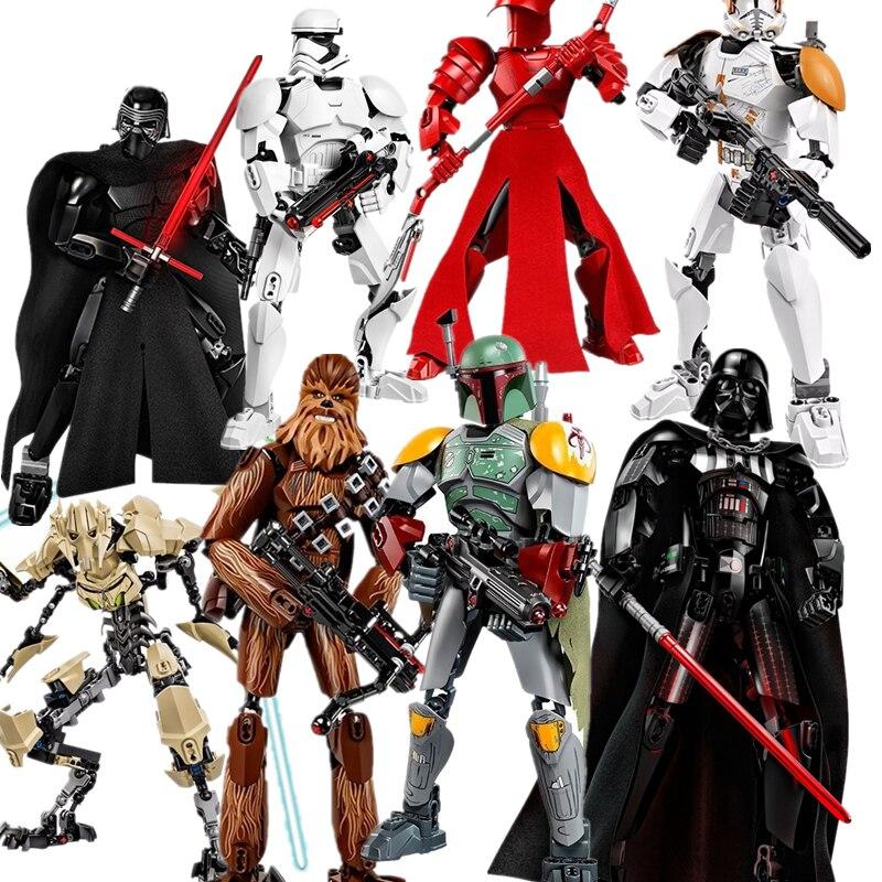 (Lis)StarWars building blocks Darth Vader Storm Trooper General Grievous Elite Praetorian Guard Figure toys compatible with