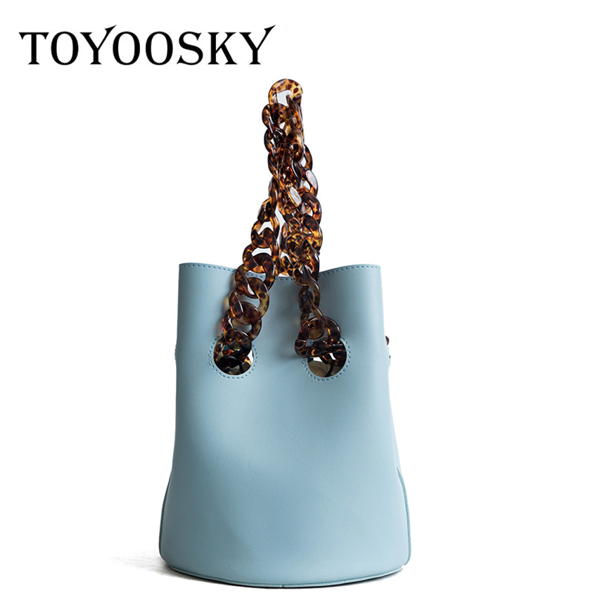 TOYOOSKY Pu leather women shoulder bags 2018 summer casual acrylic strap handbags fashion small crossbody bags composite bag