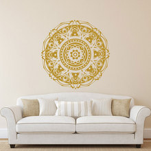 Wall Decals Mandala Sticker Bohemian Bedroom Decor Art Yoga Studio Boho Mehndi MT07