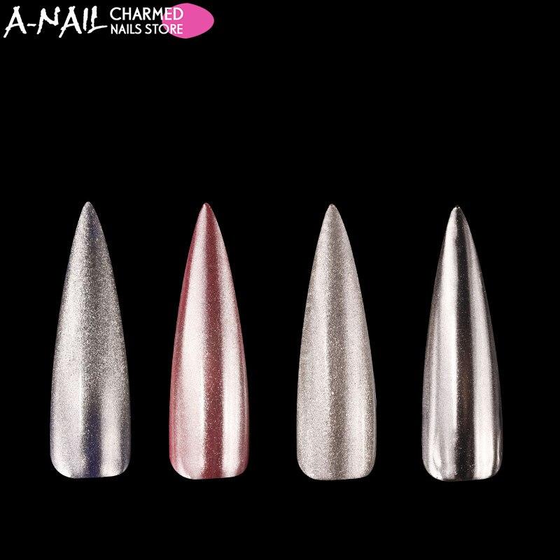 A-nagel 1 Gr/schachtel Shimmer Silber Spiegel Chrom Nagel Glitter Tauch Uvgelpoliermittel 100% Spiegeleffekt Pigement Nagel Nagelkunstdekorationen Nails Art & Werkzeuge