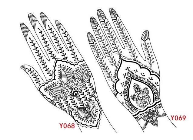 4pcs india henna tattoo stencil tattoo template in tattoo stencils
