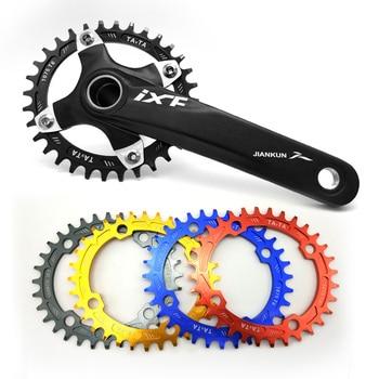 Livraison gratuite anneau de chaîne de vélo 104BCD 32 T/34 T ovale étroit large vtt vélo plateau plateau plateau pédalier plaque pour pièces de vélo