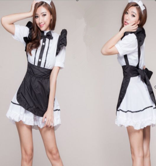 Blackwhite Good Quality Lovely Maid Clothing Cosplay Sexy -7682