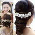 Headwear del hairband de la boda de la boda coronas/Tiaras para las novias con perlas para adultos 2016