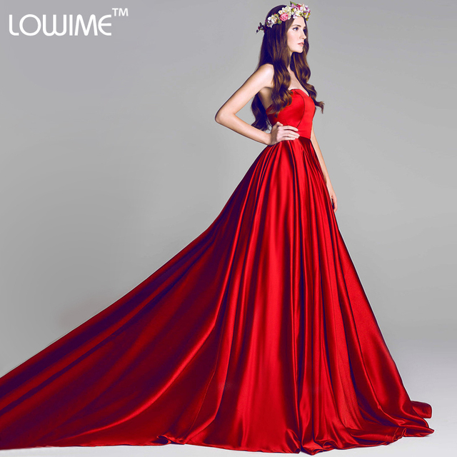 vestido longo abendkleider Long Dark Red Elegant Formal Evening ...