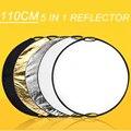 """5 en 1 110 cm 43 """"Reflector Ligero Plegable Fotografía Portable Ronda de Estudio De Fotos del Disco"""