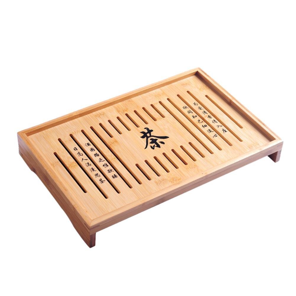 Bambou Thé Plateaux Chinois de Bon Goût Gongfu Thé Table De Service Carte de Thé Pour La Maison Jardin Portable