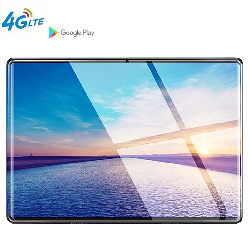 10.1Inch Tablet Pc Google Store Octa Core 6GB RAM 64GB ROM 3G 4G LTE Android 9.0 GPS WIFI 1280 800 IPS Tablet Pad Glass Shell
