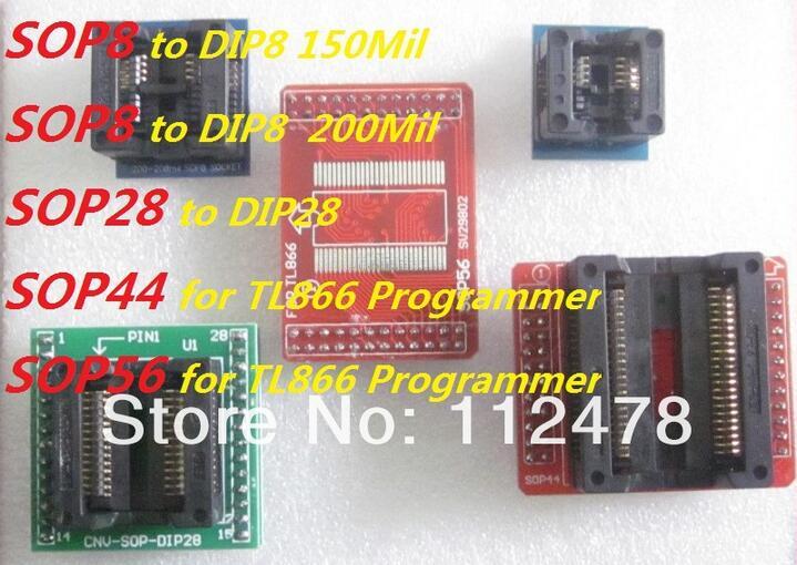Бесплатная доставка! программист разъем адаптера для TL866CS и TL866A SOP56/SOP44/SOP28 для DIP28/SOP8 для DIP8 150Mil 200Mil