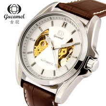 Мужские часы 30 м водонепроницаемый дайвинг Механические часы Кожаный Ремешок наручные часы 2016 роскошный бизнес смотреть классический