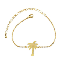 GORGEOUS TALE Stainless Steel Anklets Jewelry Plam Tree Bracelets For Women Gold Color Leg Chain Barefoot Anklets Enkelbandje
