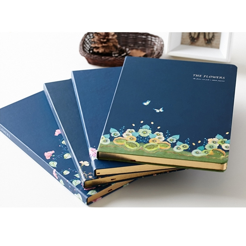 1 PC Flower Series Fine Notebook A5 Phnom Penh Thicken Diary Notebooks School Supplies Stationery Hardcover Travel Plan Notepad cute akita dog simple diary notebook a5 plastic sleeve waterproof notebooks stationery school supplies life learning notepad
