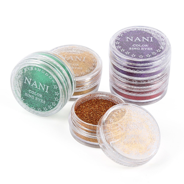 1 Box Makeup Eye Shadow Soft Glitter Shimmering Colors Eyeshadow Metallic Eye Cosmetic for All Kinds of Skin Drop Shipping TSLM1 1