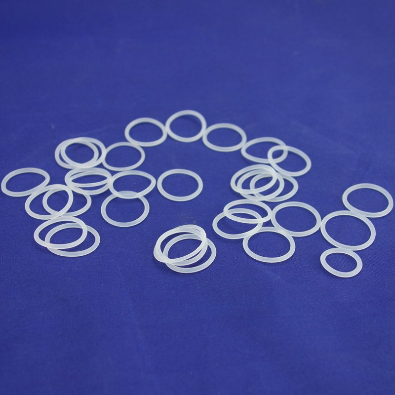 CS 4mm OD 15-155mm White Food Grade Silicon Rubber O-Ring Seals Gasket