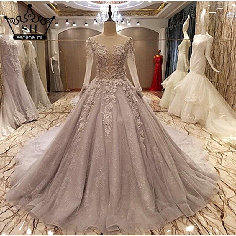 Buy vestido de noiva long sleeve wedding for Wedding dress appliques suppliers