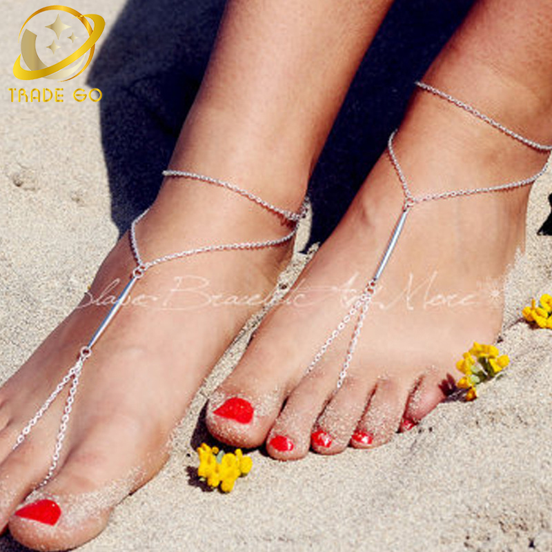 metal stick simple anklet bracelet chain anklets for women foot jewelry bracelet boho barefoot sandal ankle bracelet bijoux pied