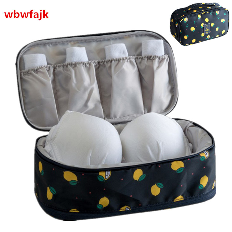8bbc173ccc85 US $4.18 |Women Travel Accessories Bra Underwear Organizer Bag Portable  Weekend Overnight Cosmetics Socks Finishing Pouch Make up Storage-in Travel  ...