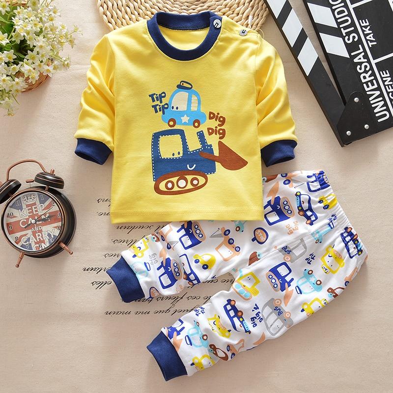 2017 autumn baby boy girl clothes Long sleeve Top + pants 2pcs sport suit baby clothing set newborn infant clothing