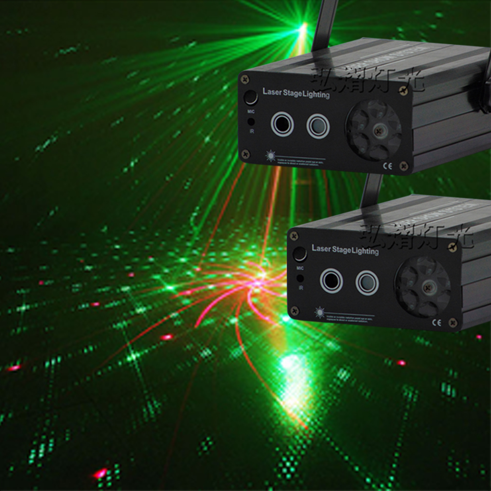 (2psc/lot)New Patterns Mini Laser Projector Light DJ Disco Party Music Laser Stage Lighting Effect With LED Blue Xmas Lights atotalof 24 patterns rgb mini laser projector light dj disco party music laser stage lighting effect with led rgb xmas lights