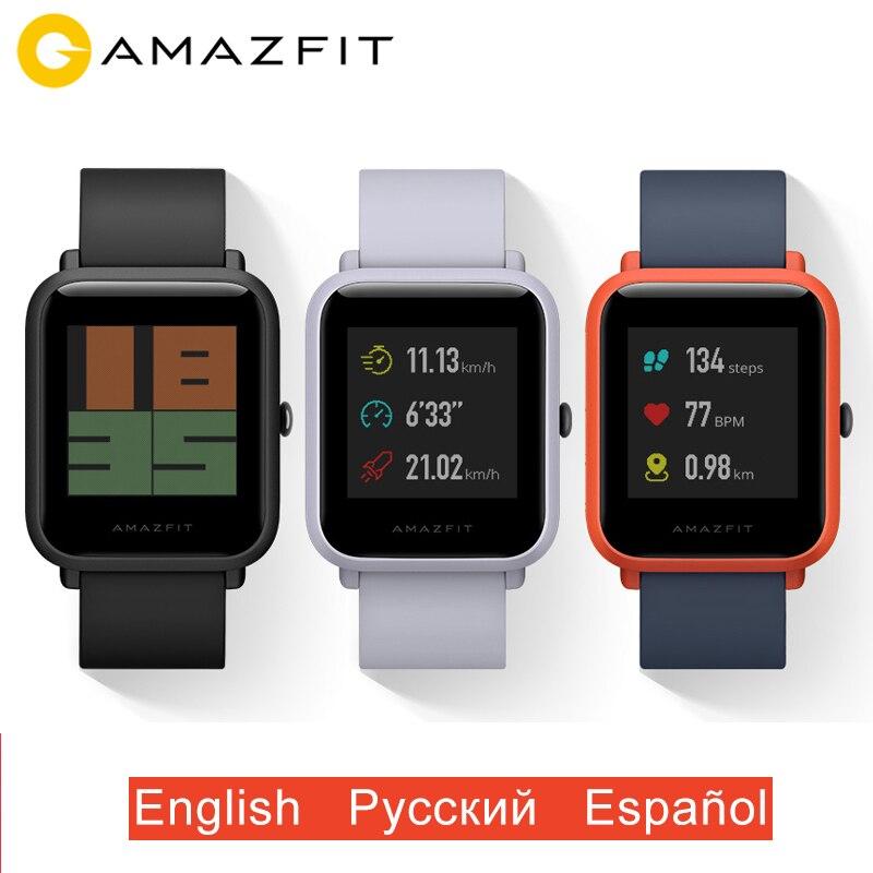 Version mondiale Xiaomi Huami Amazfit Bip montre intelligente GPS Gloness montre intelligente montre intelligente veille de 45 jours pour téléphone MI8 IOS