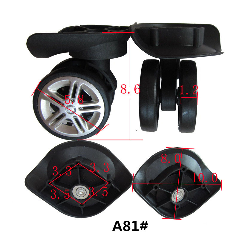 Replacement Spinner Luggage Wheels, Parts Wheels for Suitcase,Repair suitcase wheels A81# new luggage replacement wheels suitcase repair replacement parts 360 spinner upright mute high quality wheels for suitcases 2pcs