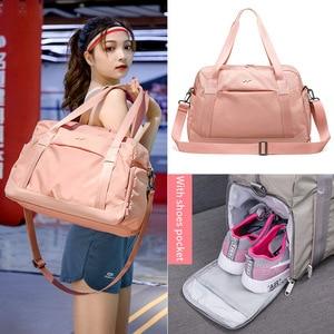 Image 4 - Moda składana torba na Fitness kobiety torba podróżna na ramię w torby podróżne torba na buty pojemna torba XA786WB