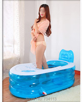 Inflatable bathtub with air pump beauty SPA tub thicken inflatable bathtub adult bath tub folding tub child bucket bathtub relax