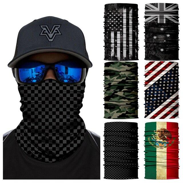 Face Shield Women Bandana scarf ciclismo Fishing Mask scarfs Bike Neck Warmer Neck Gaiter Tube cycling Sport Headwear For men