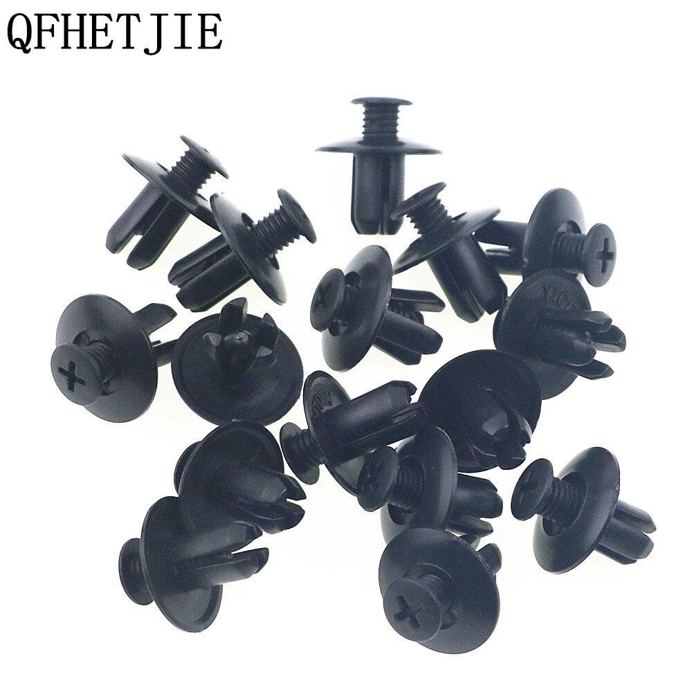 QFHETJIE 50pcs 8mm Automotive fasteners Universal Purpose Plastic Expansion Rivets Car Decoration Folder Door Push-Type Clips
