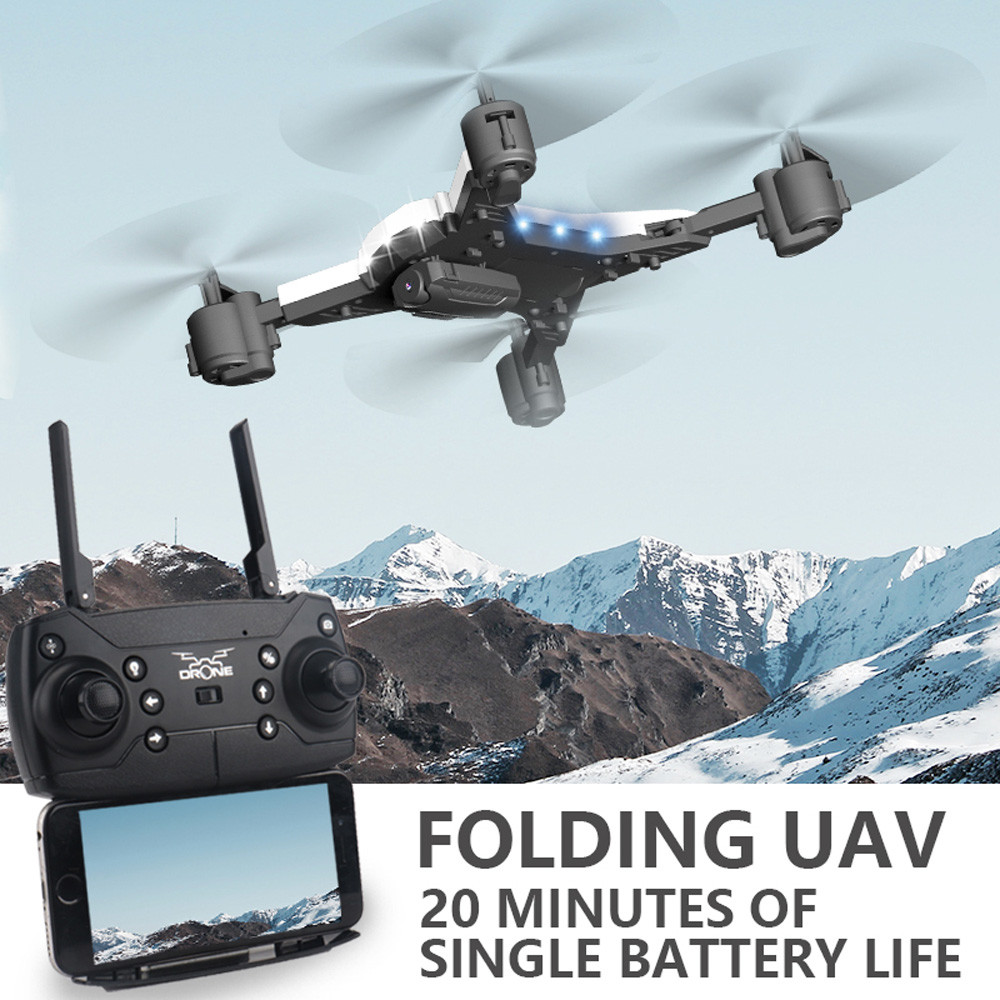 601S 1080P 5MP Quadcopter With Camera Foldable WIFI FPV Drone 20Min Flying 6-axis 4CH RC Helicopter Selfie Drones With Camera HD 30