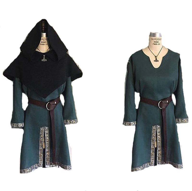 Adult Men Medieval Tunic Shirt Larp Viking Pirate Costume Renaissance Clothing Celtic Horseback Knight Cos Garb Dress For Men