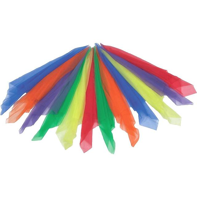 12 sztuk Osaczony Żonglerka Taniec Kwadratowych Kwadraty Szale Jedwabne Szale Okłady Cukierki Kolor (Assorted Kolor)
