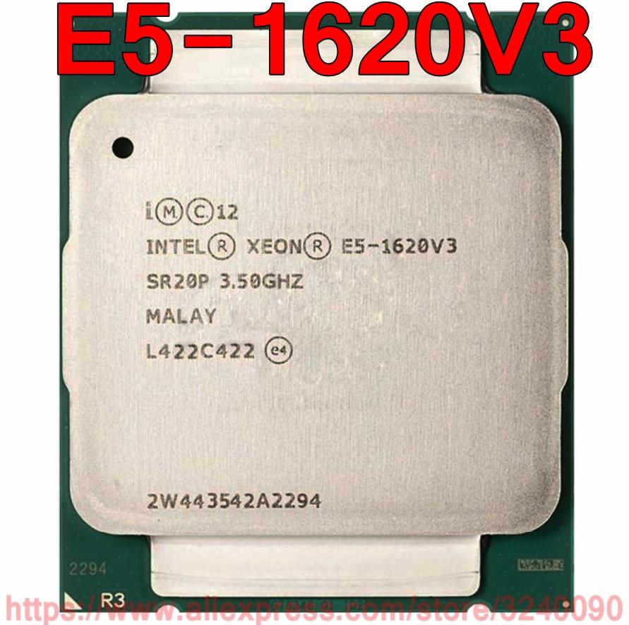 Intel Xeon CPU E5 1620V3 SR20P 3 50GHz 4 Cores 10M LGA2011 3 E5 1620 V3