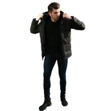 2019 Fashion Winter Coat Men Cotton Clothing Plus Velvet Thin Section Mens Long Sleeve Clothes Parka New Hot Sale