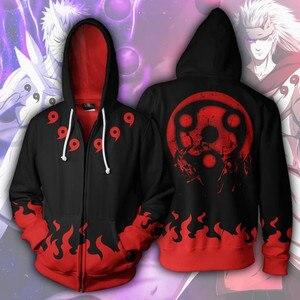 Image 1 - Anime Naruto Hoodie 4th 7th Hokage Uzumaki Naruto Uchiha Sasuke Hatake Kakashi Ootutuki Zipper Coat Tops Thin Hoodies Sweatshirt