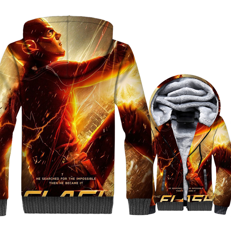 man 39 s casual turn down collar jackets 2019 winter thick warm hoodies The Flash Super hero 3D prints brand tracksuits sweatshirt in Hoodies amp Sweatshirts from Men 39 s Clothing