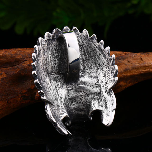 STAINLESS STEEL HEAD SKULL NECKLACE