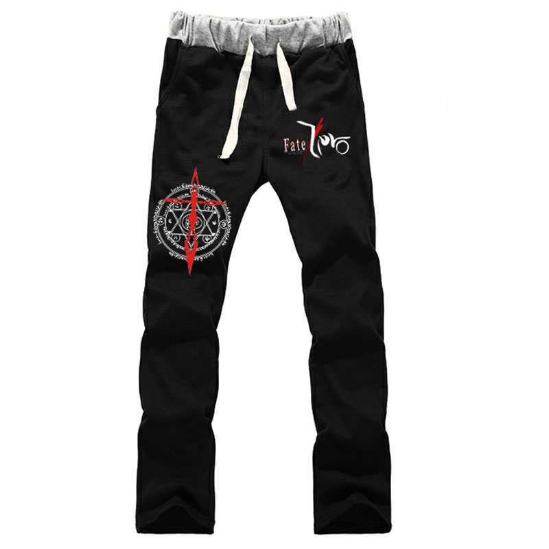 Fashion Anime Fate Zero Saber Sweatpants Straight Casual Hip-Hop Sweat Pants Loose Tracksuit Long Trousers Spring Autumn Bottoms