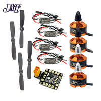 JMT Combo Set for 250 210 RC Drone : 4x 1806 2400KV Brushless Motor + Mini BLHeli OPTO 16A ESC + 5045 Propellers CW CCW with PDB