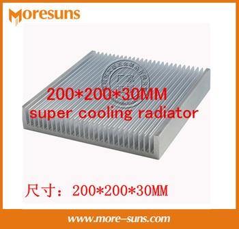 Fast Free Ship Pure aluminum heat sink industry aluminum material 200*200*30MM super cooling radiator