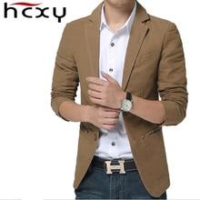 HCXY 2016 Brand New blazer men Casual Blazer Cotton Denim Parka Man slim fit Jackets  Large Size men jackets M-XXXXXL