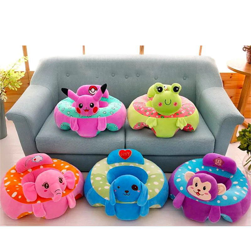 Baby Support Seat Soft Sofa Cartoon Plush Sofa Infant Learning To Sit Sofa Baby Seat
